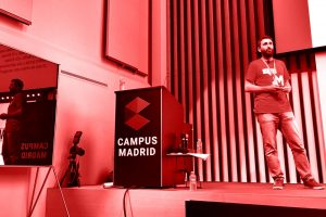 Juan speaking @ WordCamp Madrid 2017
